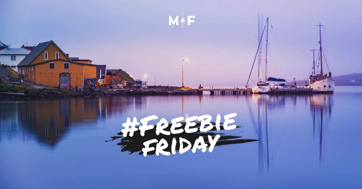 Bild mit Freebie Friday Aufschrift