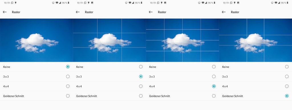 Grundlagen Tipp: Verschiedene Rastermöglichkeiten in den Kameraeinstellungen