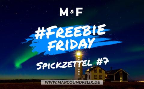 Freebie Friday bei Marco und Felix, diesmal gibt es wieder ein Fotografie Spickzettel für euch